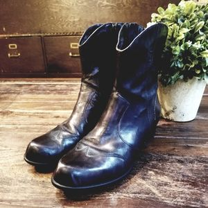 Born Crown black leather mid-calf boots 7.5